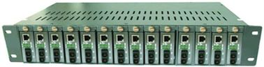 14 Slots Single / Dual Optical Fiber Media Converter 50 ~ 60HZ
