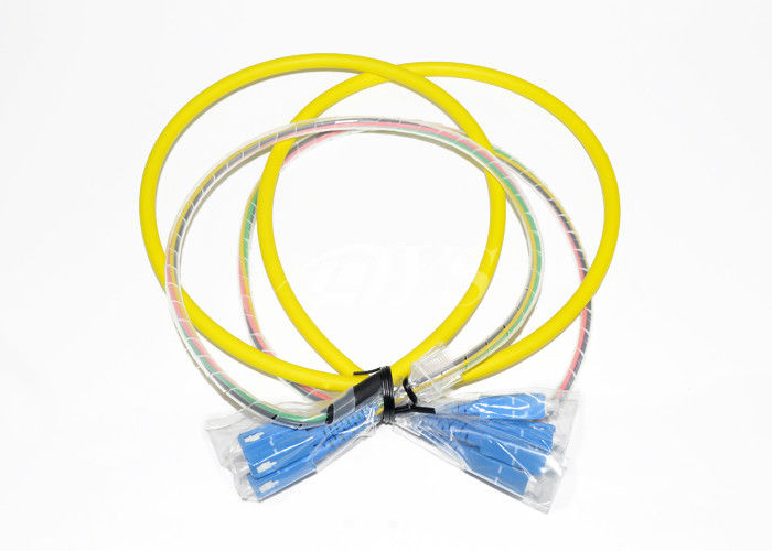চীন SC/UPC-SC/UPC Optical Fiber Patch Cord Connector 4 Fiber With Pre - Terminated সরবরাহকারী