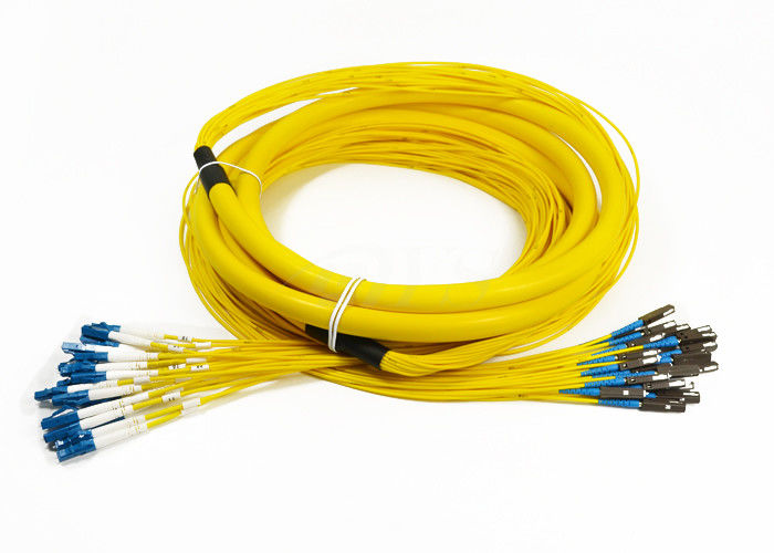 চীন 24 Core Distribution Jumper Optical Fiber Patch Cord , Fiber Optic Patch Cords সরবরাহকারী