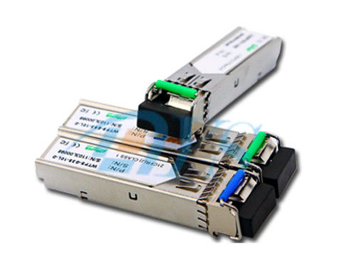 চীন BiDi SFP Fiber Optic Transceiver Package With LC / SC Connector সরবরাহকারী