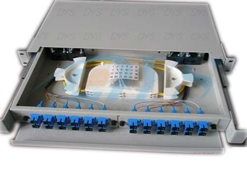 SC Beige Fiber Optic Odf , 24 Aluminium Port Fiber Optic Patch Panel সরবরাহকারী