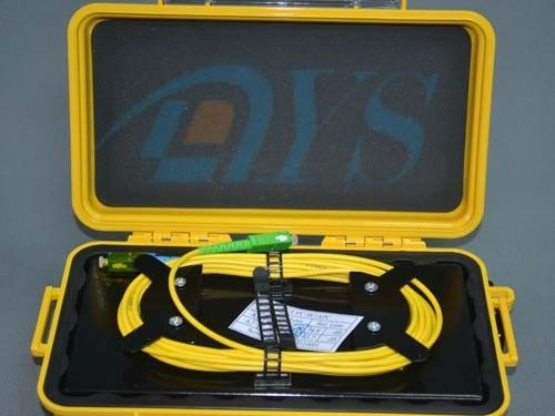 Black / Yellow OTDR Fiber Optic Odf Launch Cable Box with SC / APC Connector সরবরাহকারী