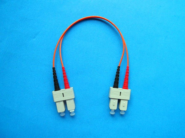 Low Back Reflection Loss Simplex / Duplex SC Optical Fiber Patch Cord For Instrument সরবরাহকারী